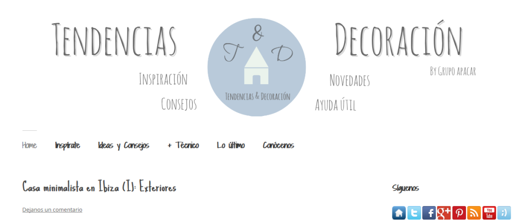 Blog tendenciasydecoracion.com