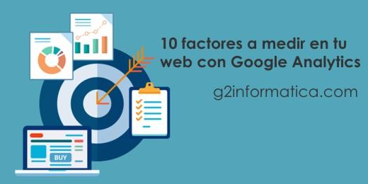 10 factores a medir con Google Analytics desde tu web